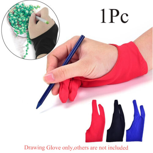 Fingerless Anti-fouling Drawing Glove Mittens Graphics Tablet Painting Supply