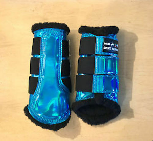 HKM Space Brushing Boots - Holographic - Aqua - Xtra Full Size - Fast & Free