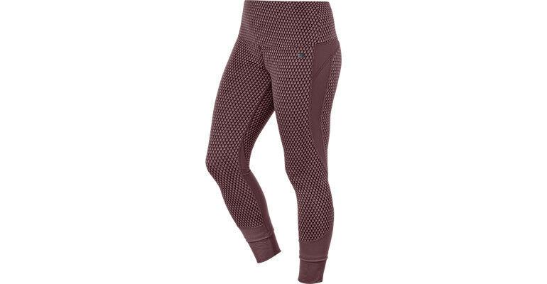NEW  Asics Fitsana Burgandy Capri Activewear Pants Jacquard Running Pants XS