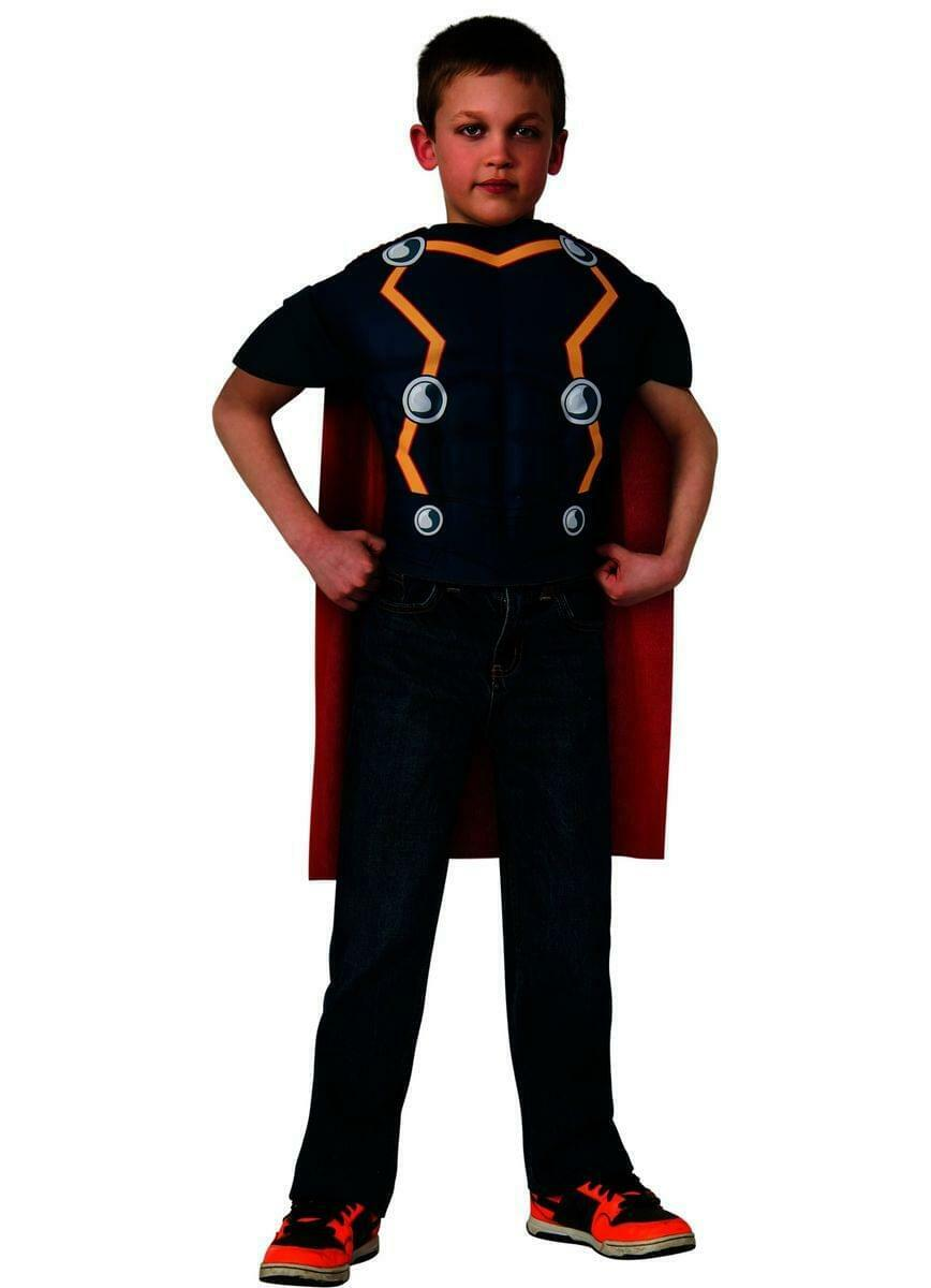 Avengers Assemble Marvel Thor Muscle Chest Shirt Child Costume One Size Fits
