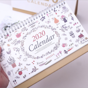 2020 Desk Calendar Tabletop Flip Month to View Office Home ...