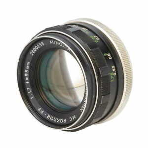 Minolta 55mm F/1.7 Rokkor PF MC Mount Manual Focus Standard Lens {52} *AS-IS*