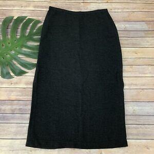 eileen fisher maxi skirt size m petite dark brown black