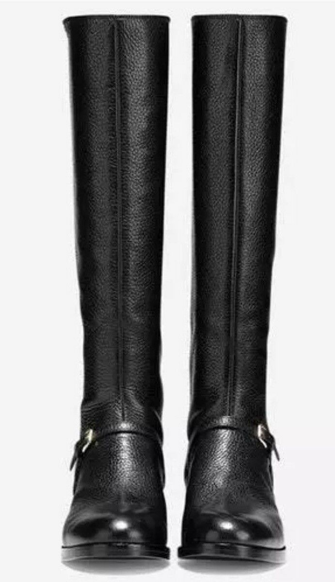 c8735d423286a ... NEW NEW NEW COLE HAAN damen PEARLIE Stiefel - schwarz LEATHER Größe 10  B W07895New In ...
