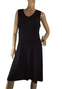 TARGET-SIZE-16-BLACK-GATHERED-WAIST-HALTER-DRESS-NWT