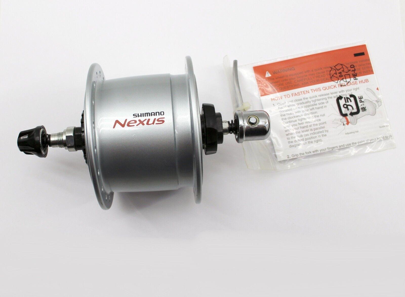 Dynamo Moyeu Shimano Nexus DH-C6000-3R-N, 36loch, 6v-3w, pour Schnellsp. Rollenb