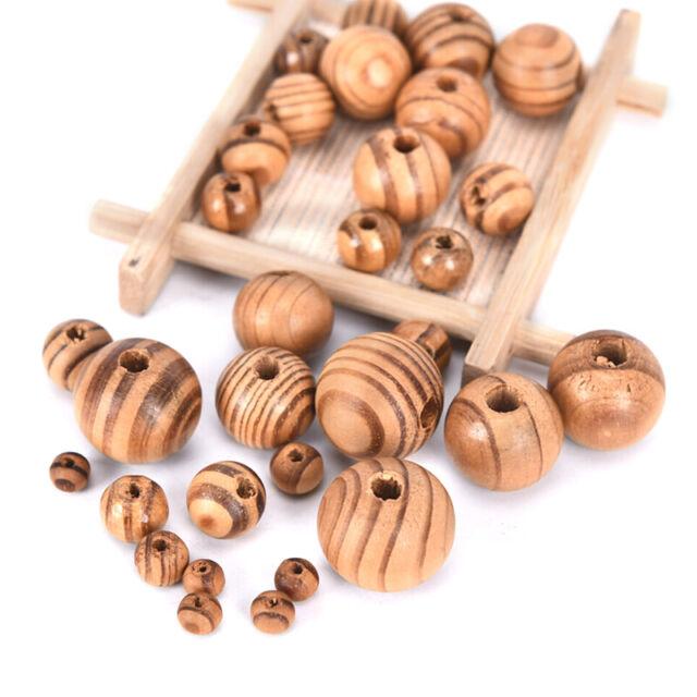 50Pcs Natural Ethnic Wood Spacers Loose Beads DIY Bracelet Jewelry Making G G$