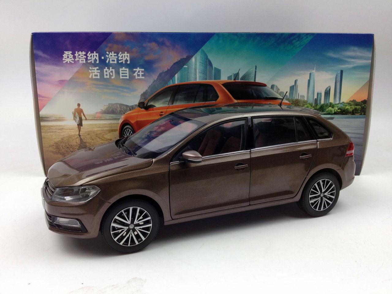 1 18 Volkswagen gran Santana Coche Modelo Diecast Metal marrón