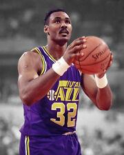 Utah Jazz KARL MALONE Glossy 8x10 Photo Basketball Print Spotlight Poster