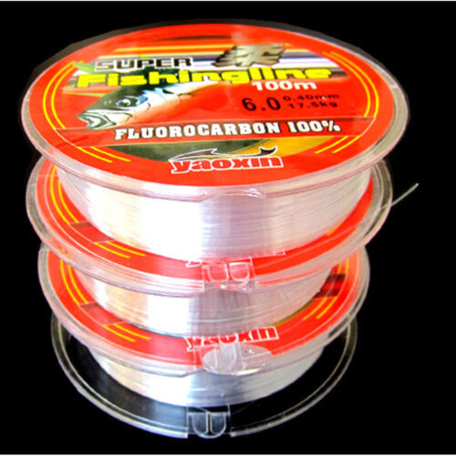 Super Strong 100/% Fluorocarbon Monofilament Nylon Fishing Line 0.4-8LB 100m hi
