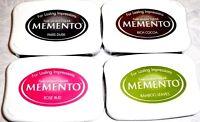 Memento Craft Dye Ink Pad Tsukineko Lot Of 4 Colors