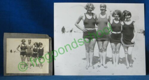 Muriel Astor photo at beach 1927 Vintage Flappers ladies swimsuit Marion Davies