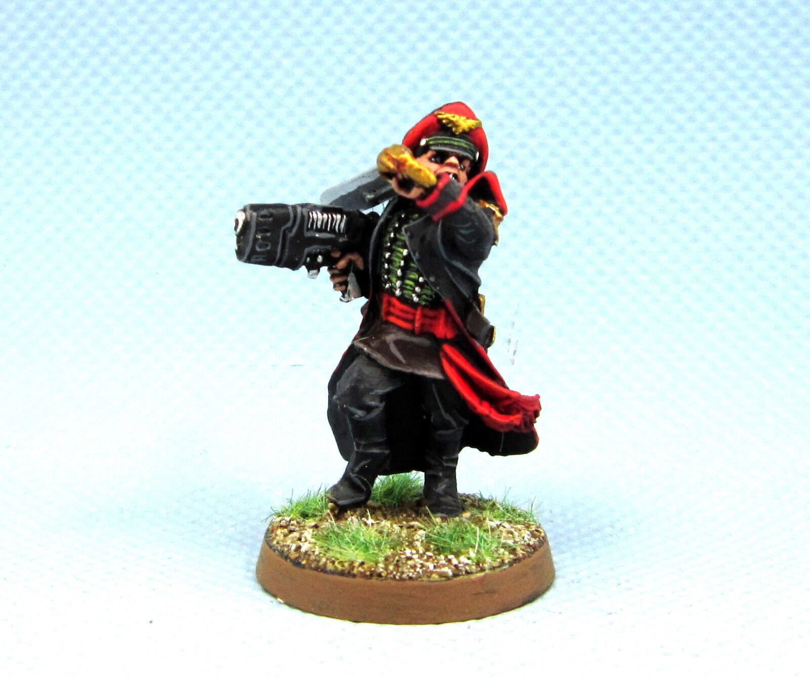 25mm warhammer 40k ag malte imperialen garde kommissar mit power pistole ig026