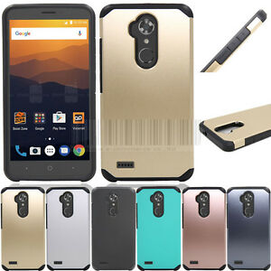 buy online 11820 884e9 Details about Shockproof Armor Hybrid Rubber Hard Phone Case Cover For ZTE  Max XL Blade Max 3