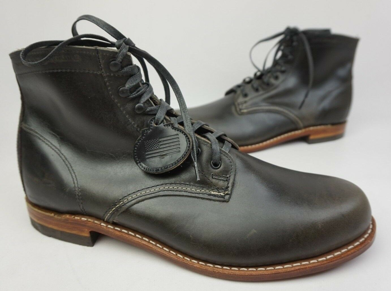 Wolverine 1000 Mile Grey Plain Toe Leather Boots Size 12 D  350+