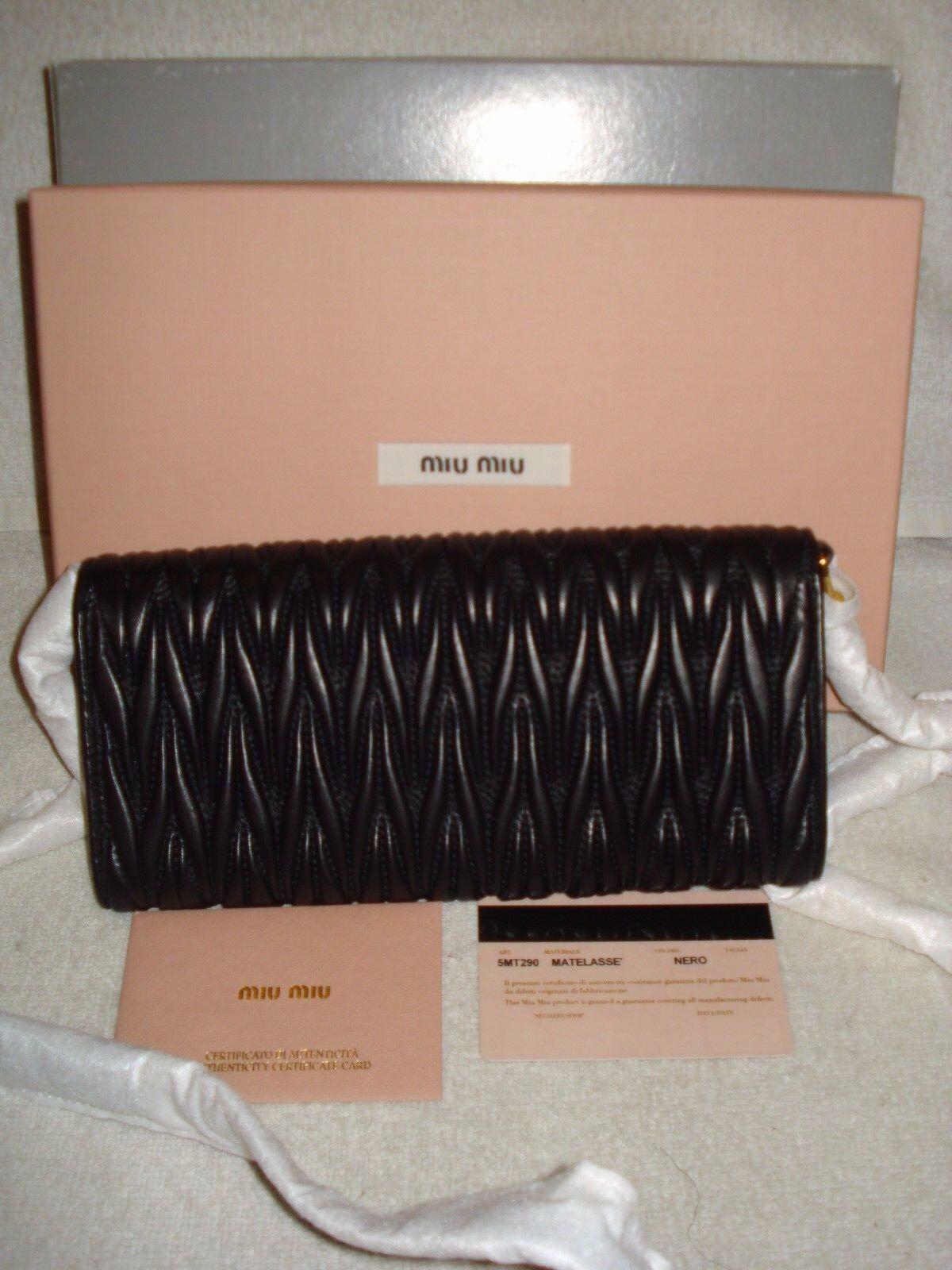 100 Authentic MIU MIU Matelasse Black Leather Chain Wallet shoulder Bag for  sale online  e8dd4d72c6dc7