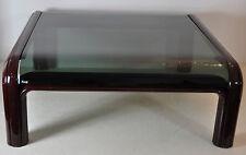 GAE AULENTI for Knoll Couchtisch Coffeetable Tisch 70er weinrot Aluminium/Glas