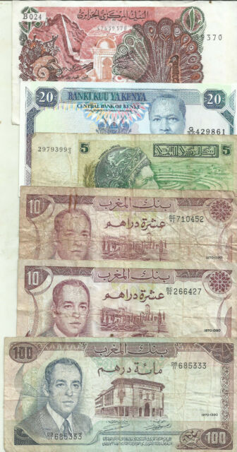 AFRICA LOT 6 NOTES. ALGERIA-MOROCCO-KENYA-TUNISIA. SPECIAL OFFER. 8RW 11MAR