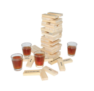 Details about Tipsy Drunken Tower Adult Party Uni Drinking Christmas Game  with Shot Glasses