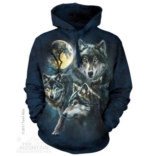 La montagne Lune des loups Collage adulte unised Sweat à capuche Sweat à capuche 723309
