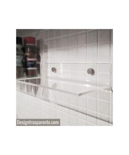 design moderno e trasparente Mensola bagno in plexiglass