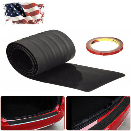 "35.4/"" Auto Rear Bumper Guard Trunk Edge Black Rubber Protector Strip Trim Cover"