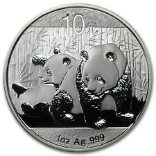2010 Chinese Panda 1 oz Silver Coin In Mint Capsule