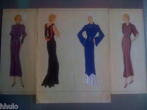 Amical Mode Fashion Original Paint Peinture 1930 Robe Dress Femme Women Vermont & Cie 3
