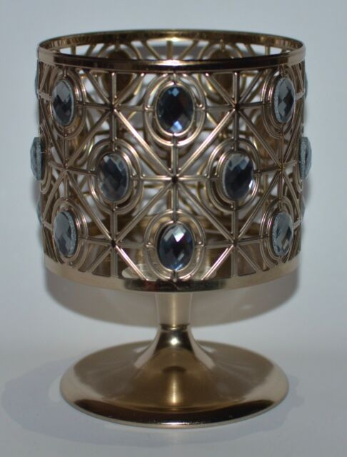 Bath Body Works Glittery Gems Pedestal Large 3 Wick Candle Holder Sleeve 14.5 Oz by Ebay Seller