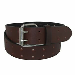 Dickies-Men-039-s-Big-amp-Tall-Leather-Two-Hole-Perforated-Bridle-Belt