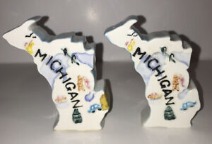 Vintage Michigan State Salt & Pepper Shakers