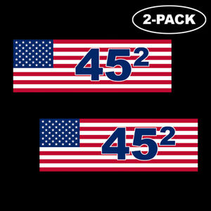 TRUMP-2020-Bumper-Sticker-Decal-45th-President-Second-Term-Flag-Vinyl-2nd-2-PACK