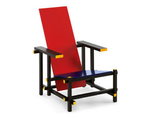 Sedia Red And Blue.Details About Europa Design Poltrona Red And Blue G T Rietveld 1919