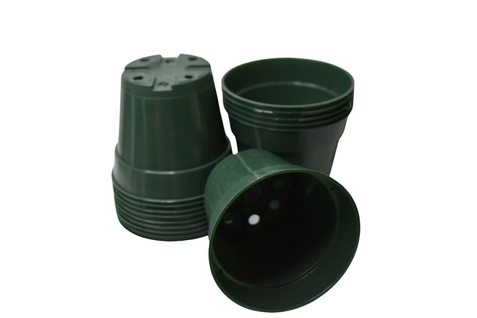 4.5 inch HEAVY-DUTY GREEN Round Nursery Pots - Set of 250 -azalea plastic flower