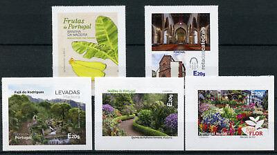 Openhartig Portugal 2018 Mnh Madeira 5v S/a Set Plants Flowers Fruit Architecture Stamps En Om Een Lang Leven Te Hebben.