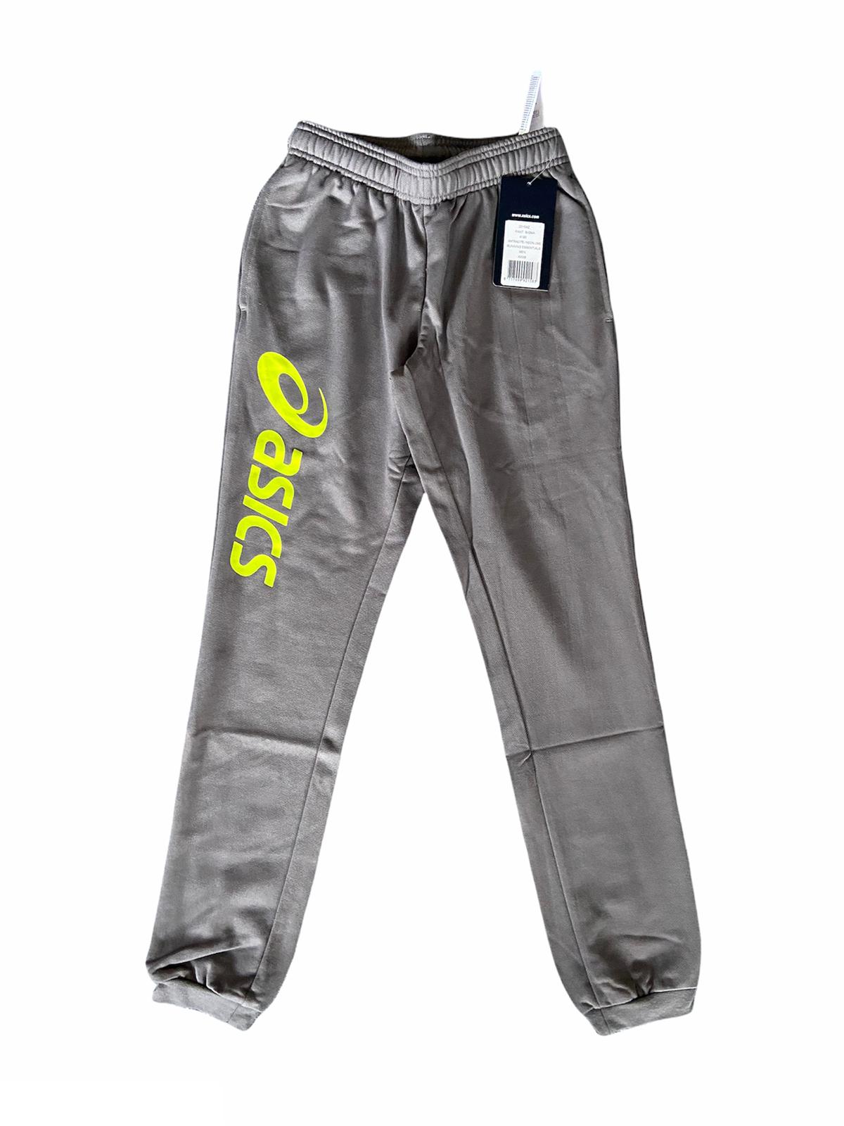 Asics Running Pants Men's Sigma Large Logo Graphic Pants - Grey - New