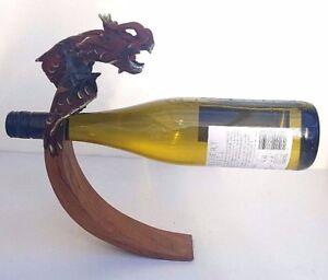 En Bois Etagère équilibre Porte Bouteille à Vin Design Dragon Ebay