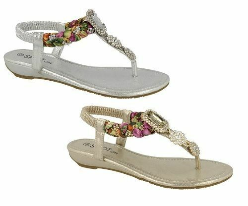 Ladies Spot On Jewelled Sandals F10745 UK Sizes 3-8 F10745 Sandals 3426c8