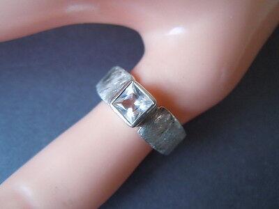 59/ 4,9 G Jewelry & Watches Search For Flights 925 Sterling Silber Ring Mit Klarem Stein Diamantierte Ringschiene Gr