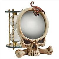 Gothic Skull & Bones Stinging Scorpion Accent Mirror
