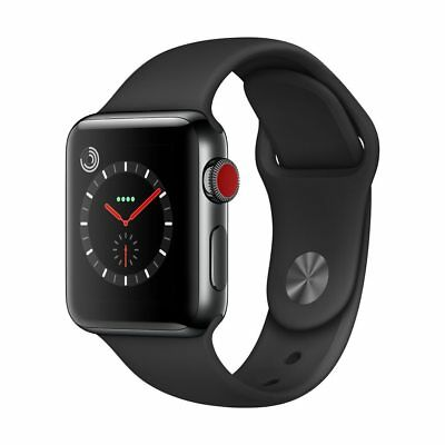 Genuine Apple Watch Series 3 GPS+Cellular 38mm Space Black Stainless Steel 16GB