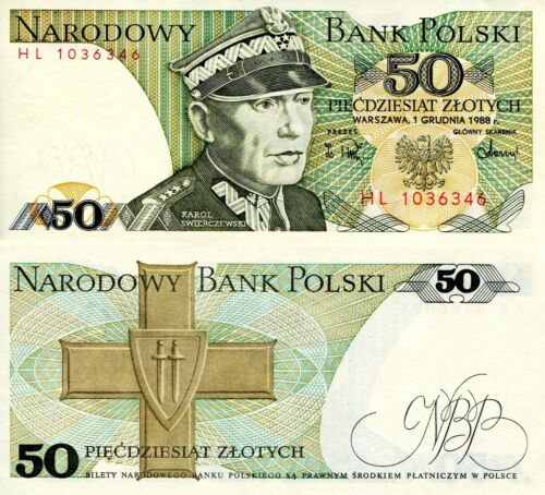 POLAND 50 Zlotych Banknote World Paper Money UNC Currency Pick p142c Bill Note