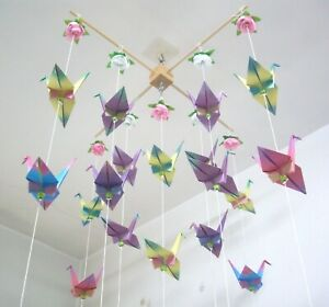 DIY origami crane mobile (aka finding a use for one of the many ... | 280x300