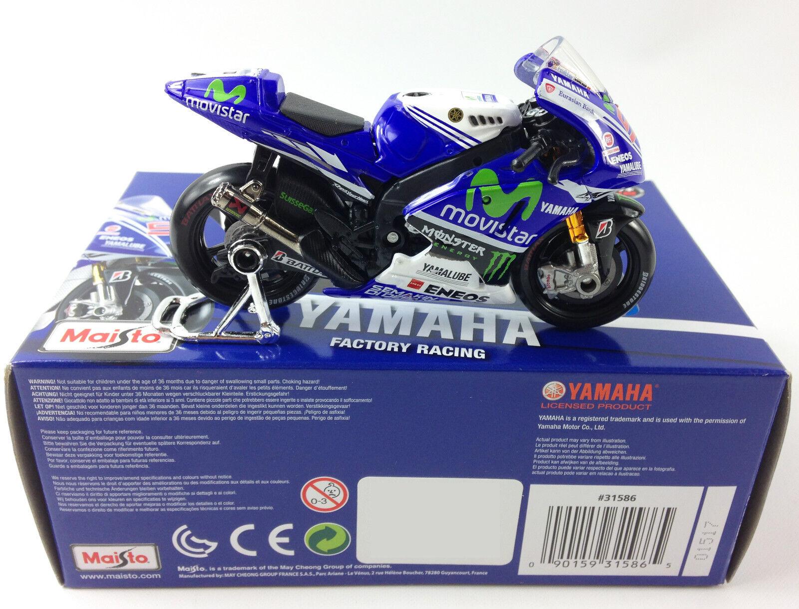 JORGE LORENZO USINE YAMAHA YZR-M1 moto gp moulé Jouet modèle modèle modèle vélo MAISTO 1:18 96bcc1