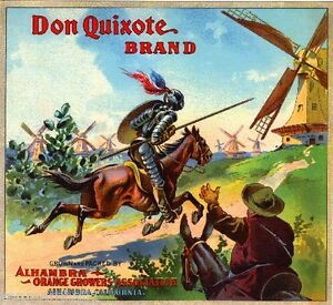 Alhambra-California-Don-Quixote-Brand-Orange-Citrus-Fruit-Crate-Label-Print