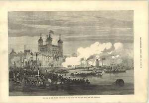 1873 Shah On The Thames Embarking Tower Paddleboat - Jarrow, United Kingdom - 1873 Shah On The Thames Embarking Tower Paddleboat - Jarrow, United Kingdom