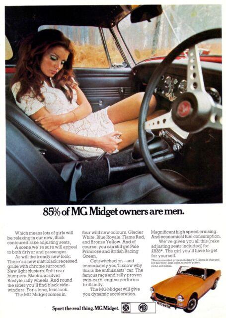 1970 MG Midget advert poster / print