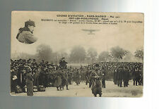 1911 France Early airmail RPPC Postcard cover Paris to Madrid Air Race Biplane