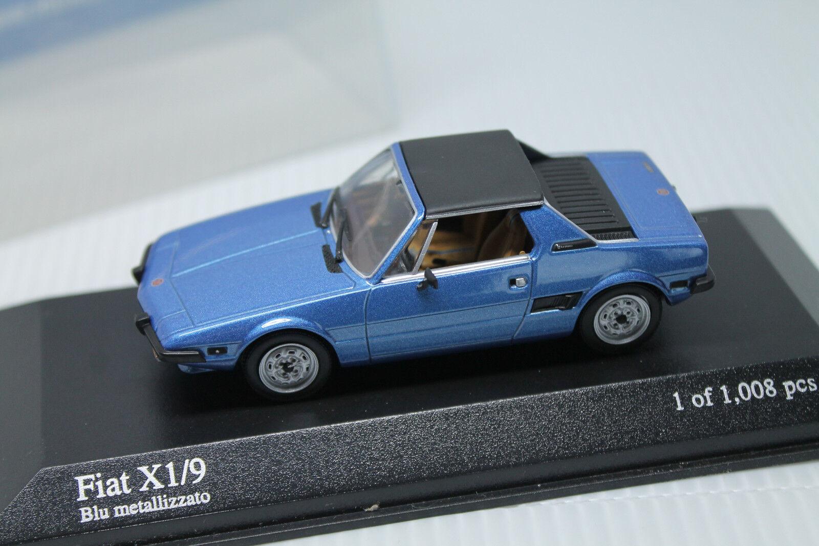Minichamps  Fiat x1 9  1974  1 1 1 43  embalaje original  metalizado azul  limitado 1008 db29a1
