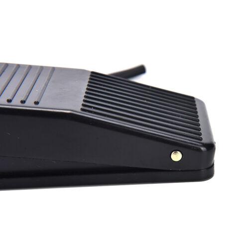 AC 250V 10A SPDT NO NC Antislip Power Foot Pedal Switch Black JB